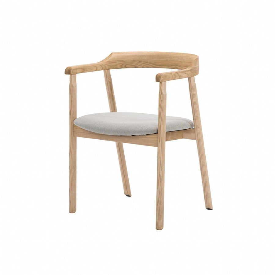 NOFU 737 Dining Chair - Dust Grey/Natural Ash