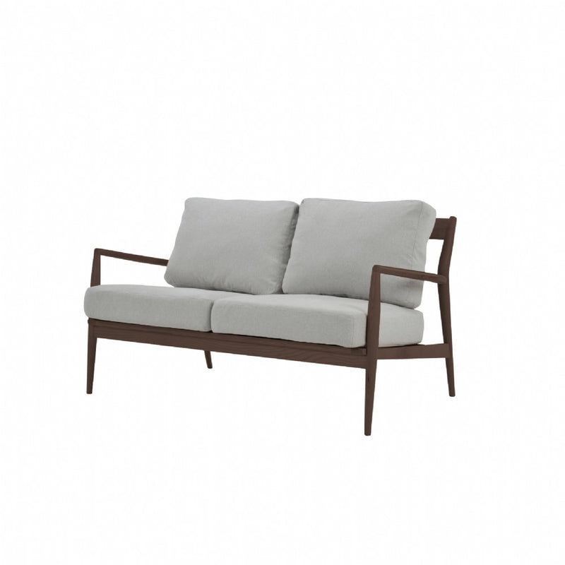 NOFU 805 2 Seater Sofa - Dust Grey/Walnut
