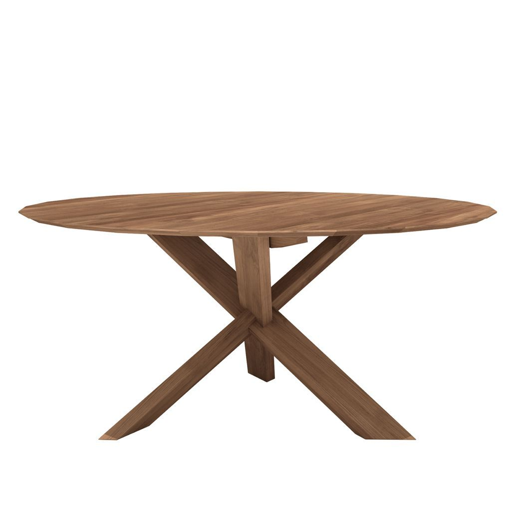 Ethnicraft Teak Circle Dining Table