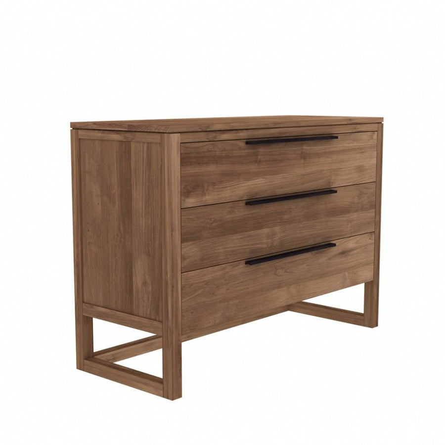 Ethnicraft Teak Light Frame chest of drawers - 3 drawers