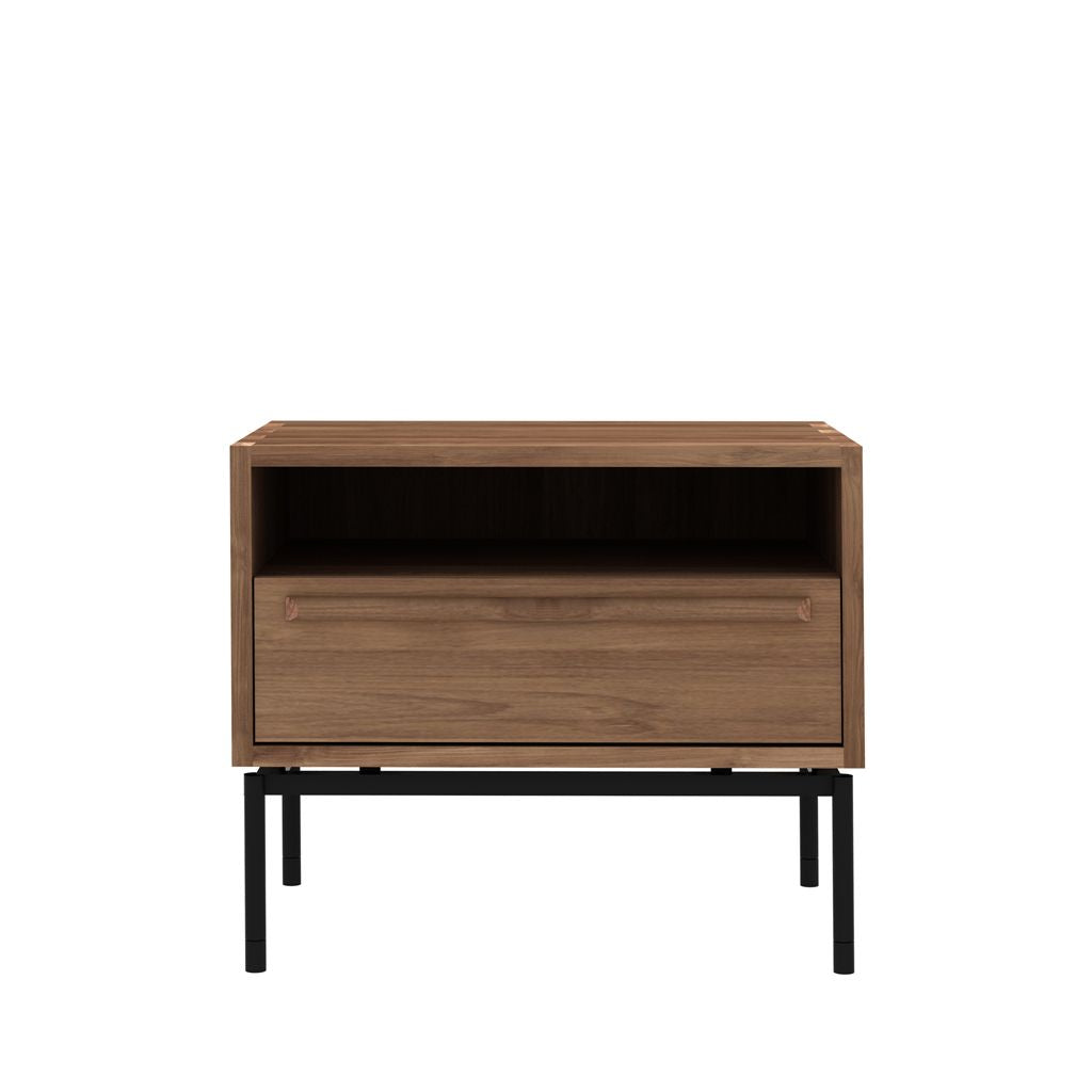 Picture of: Ethnicraft Teak Hp Bedside Table 1 Drawer Curious Grace