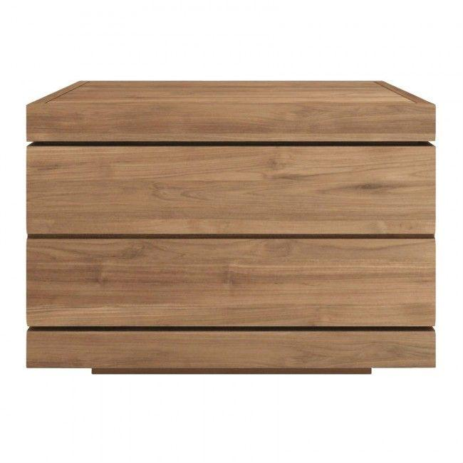 Ethnicraft Teak Burger Bedside Table - 1 Drawer