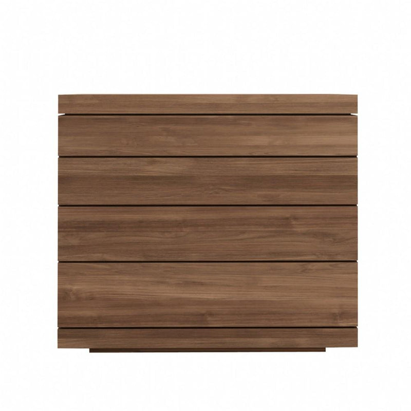 buy Ethnicraft Teak Burger chest of drawers - 4 drawers online