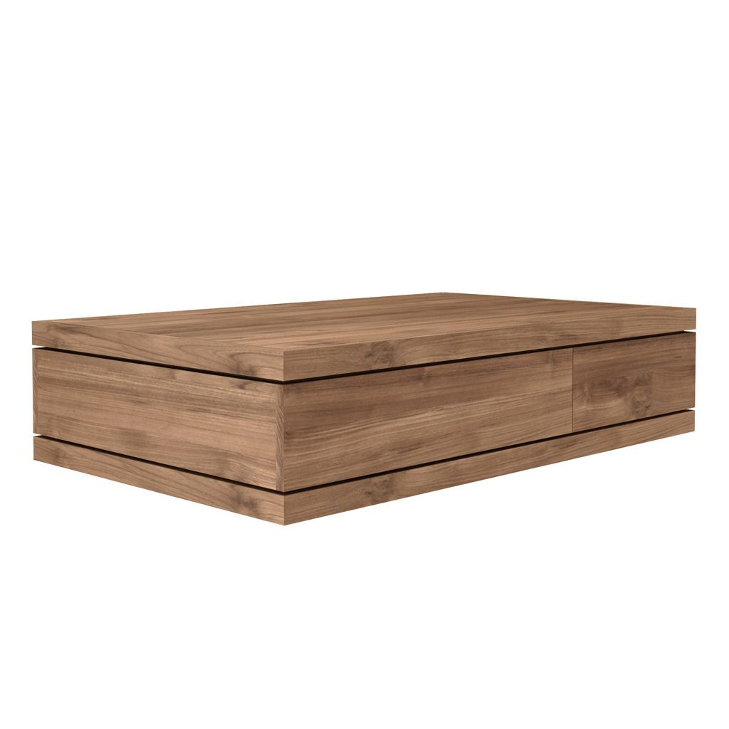 Ethnicraft Teak Burger coffee table - 2 drawers