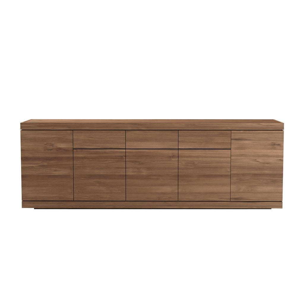 Ethnicraft Teak Burger Sideboard - 5 opening doors 3 drawers