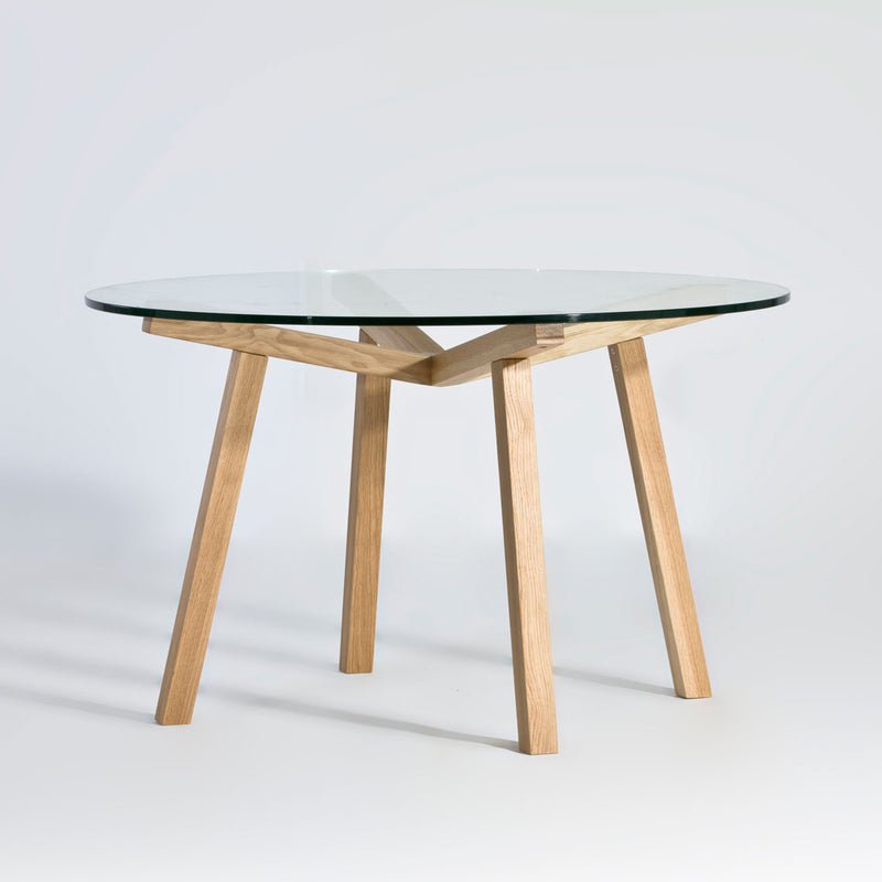 Forte Dining Table with Glass Top