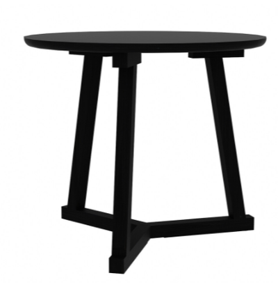 Ethnicraft Oak Tripod Side Table - Black
