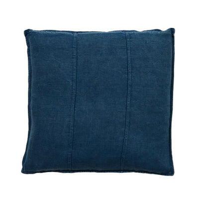 100% Pre-washed Navy Linen Cushion