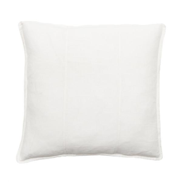 100% Pre-washed White Linen Cushion