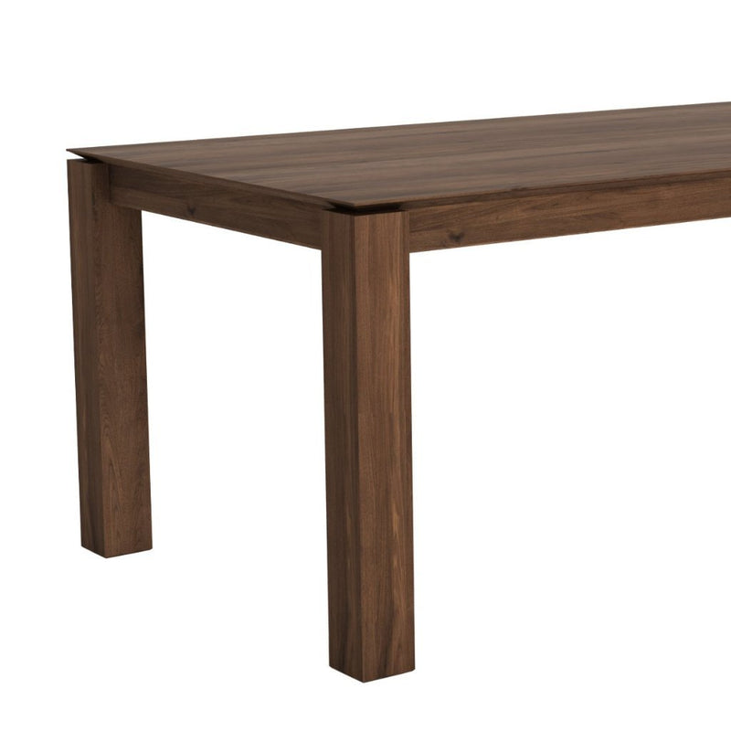 Ethnicraft Walnut Slice Extendable Dining Table - Legs 10 x 10cm