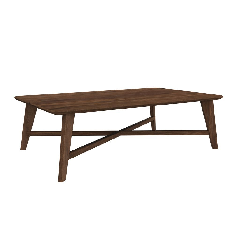 Ethnicraft Walnut Osso rectangular coffee table