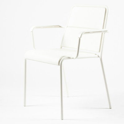 Maiori A600 Dining Arm Chair White