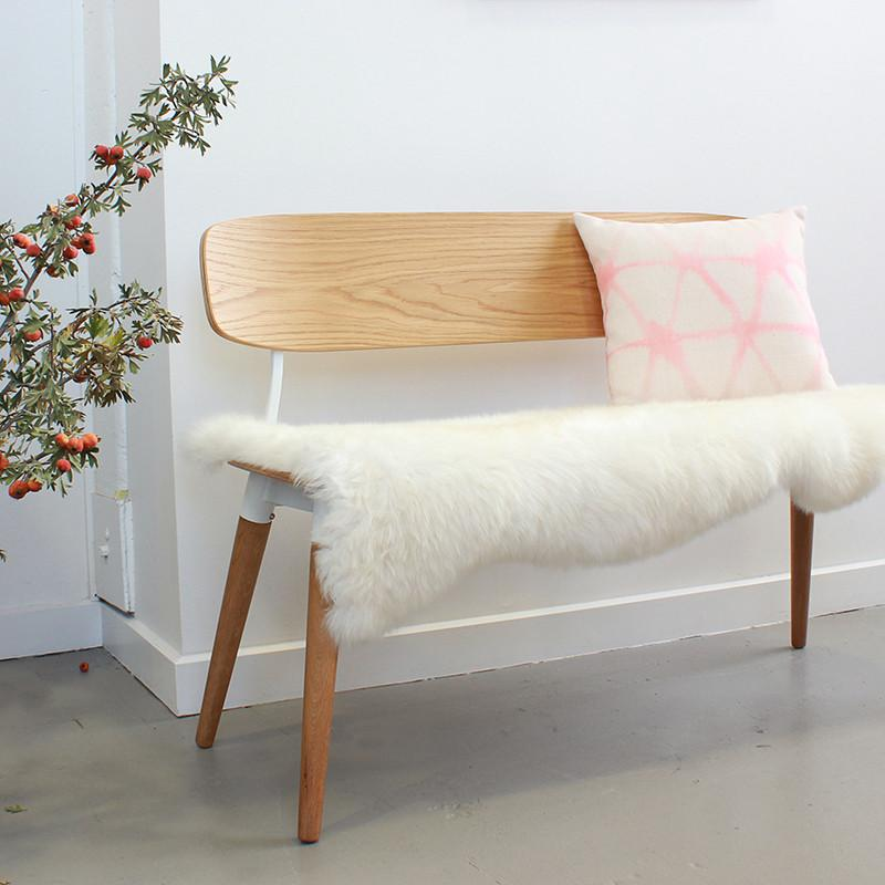 Short Haired Sheepskin - Ivory 105cm