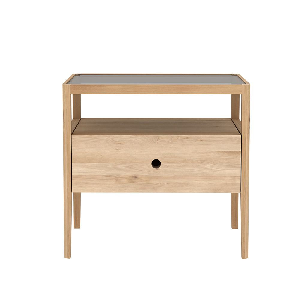 buy Ethnicraft Oak Spindle Bedside Table - 1 drawer online