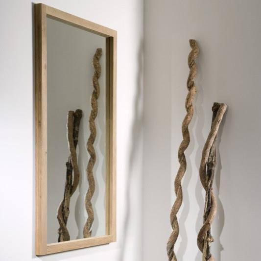 buy Ethnicraft Oak Light Frame mirror 150 online