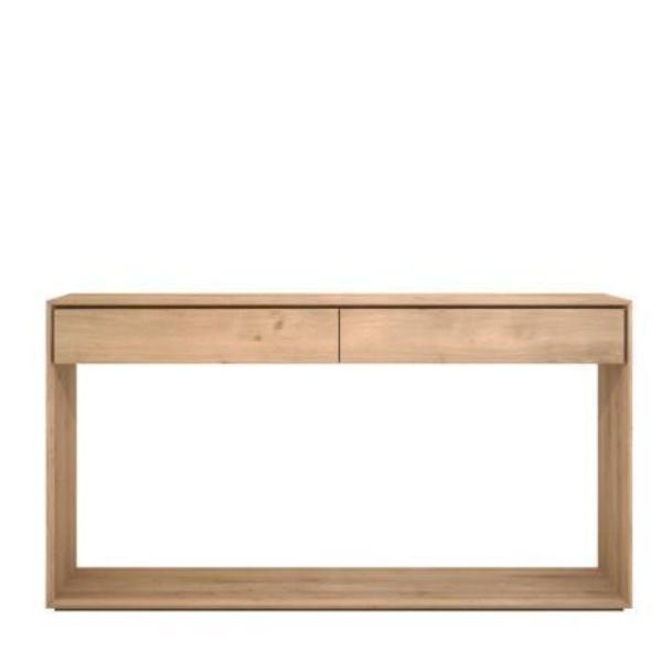 Ethnicraft Oak Nordic Console with 2 Drawers 160