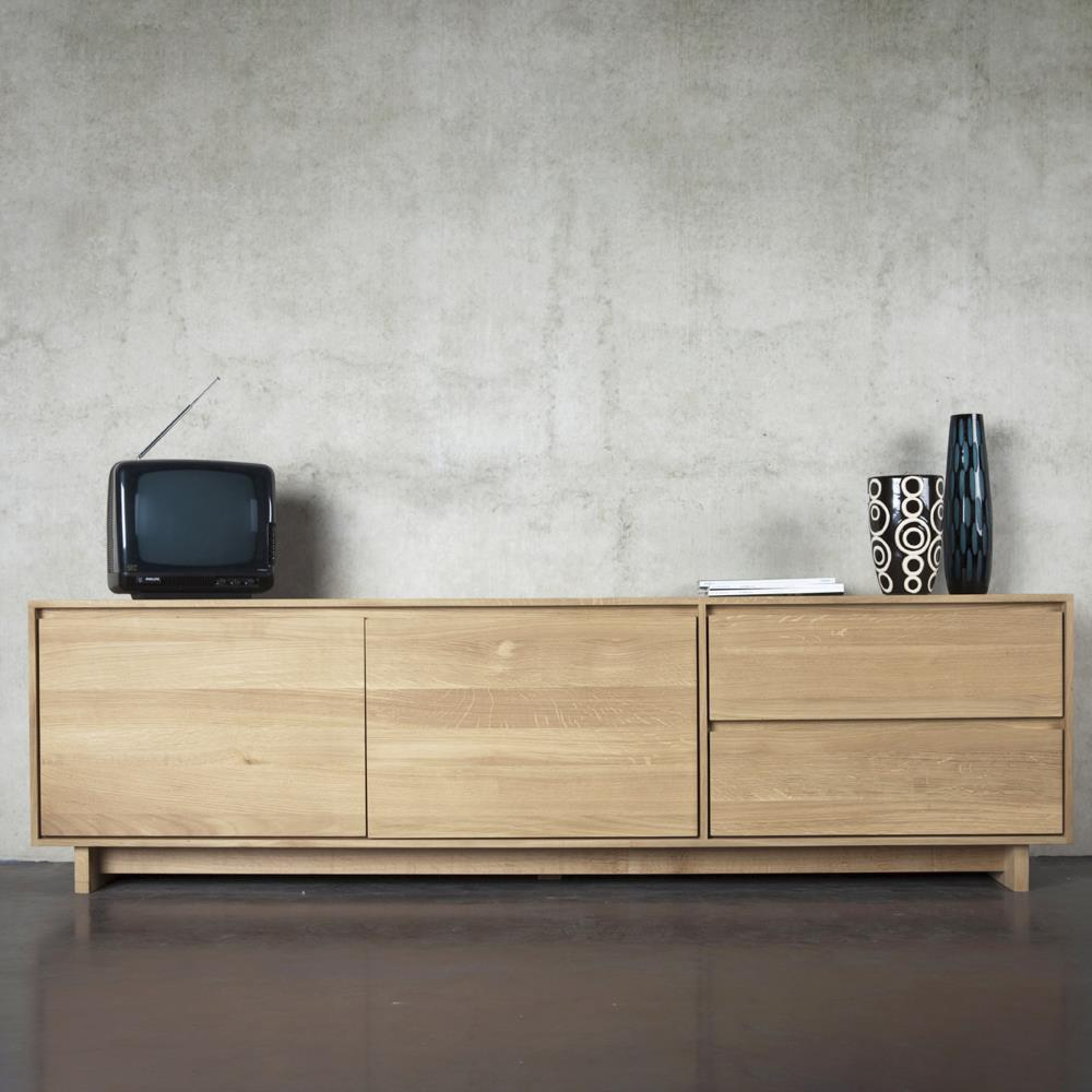 Ethnicraft Oak Wave Tv Unit 210 Curious Grace # Ethnicraft Meuble Tv