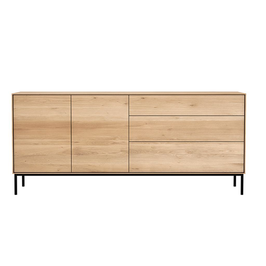 buy Ethnicraft Oak Whitebird Sideboard - 2 Doors / 3 Drawers online