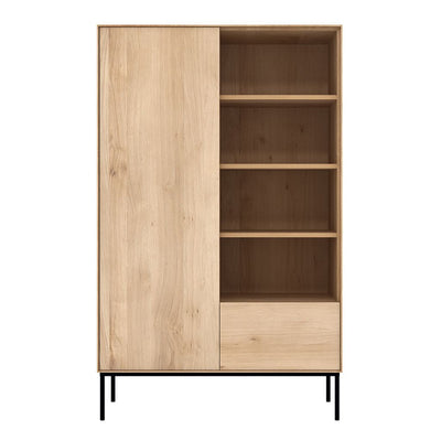 Ethnicraft Oak Whitebird Storage Cupboard - 1 Door / 1 Drawer