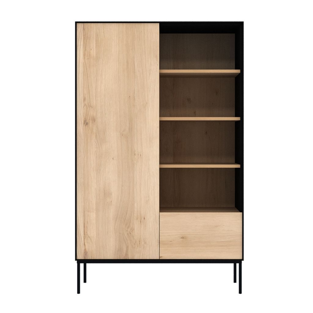 buy Ethnicraft Oak Blackbird Storage Cupboard - 1 Door / 1 Drawer online
