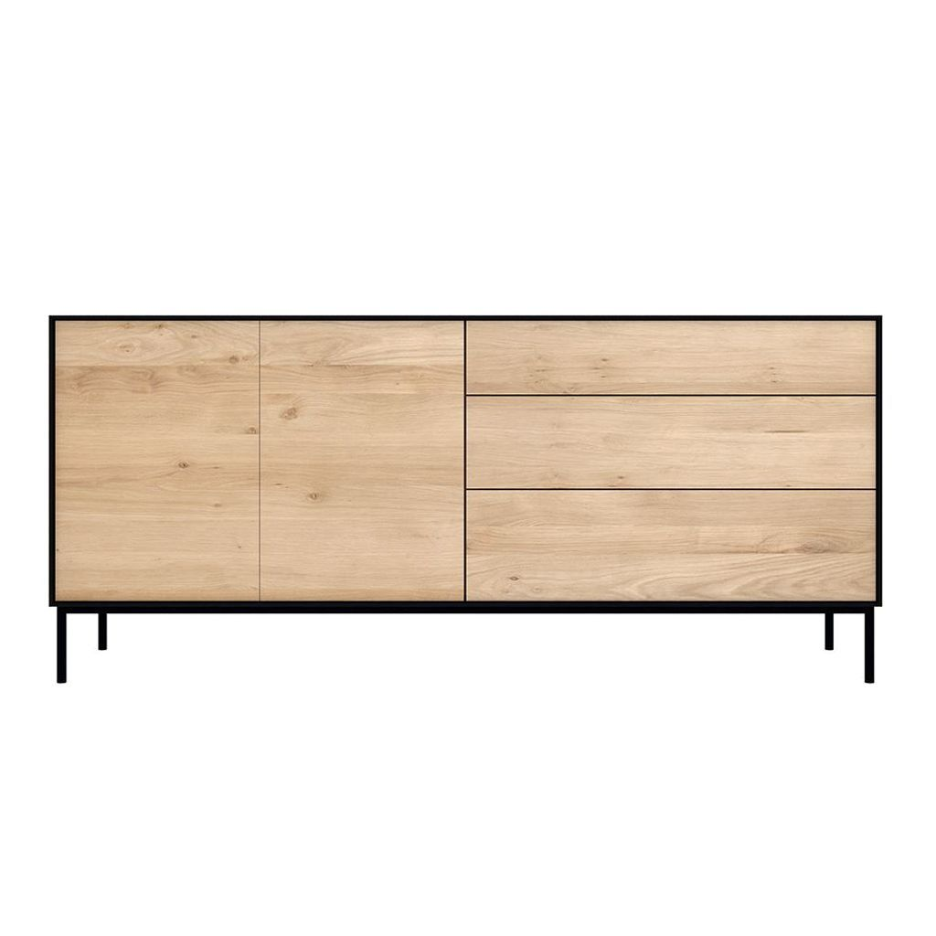 buy Ethnicraft Oak Blackbird Sideboard - 2 Doors / 3 Drawers online