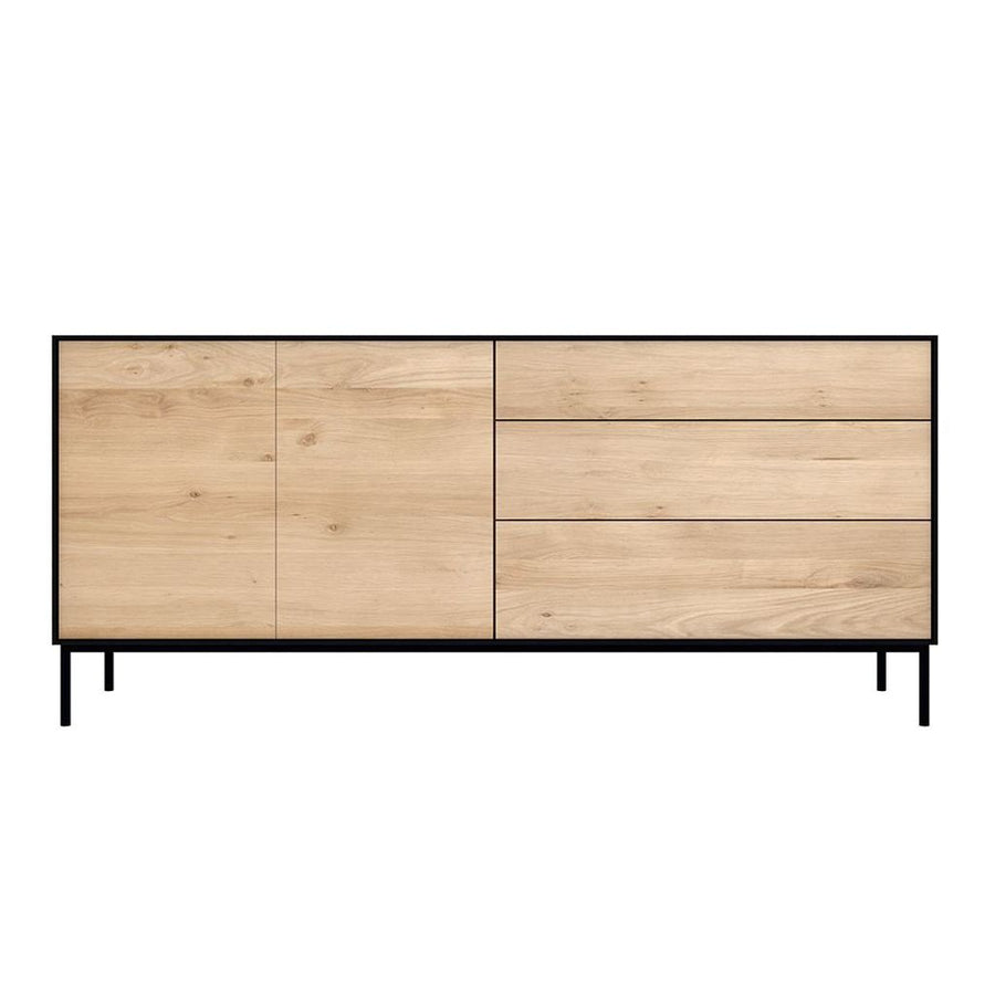 Ethnicraft Oak Blackbird Sideboard - 2 Doors / 3 Drawers