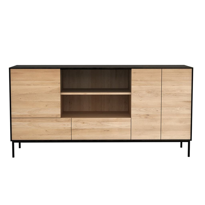 buy Ethnicraft Oak Blackbird Sideboard - 3 Doors / 2 Drawers online