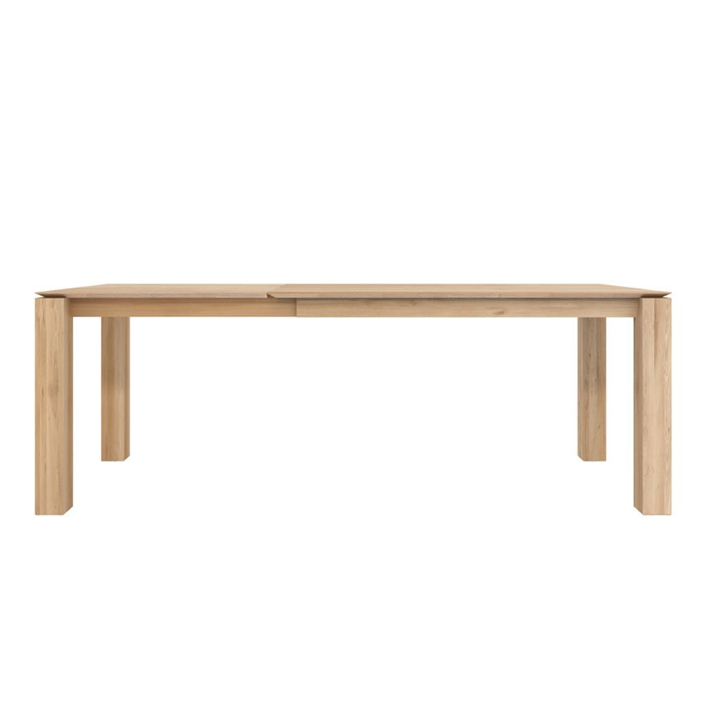 buy Ethnicraft Oak Slice Extendable Dining Table - Legs 8 x 8cm online