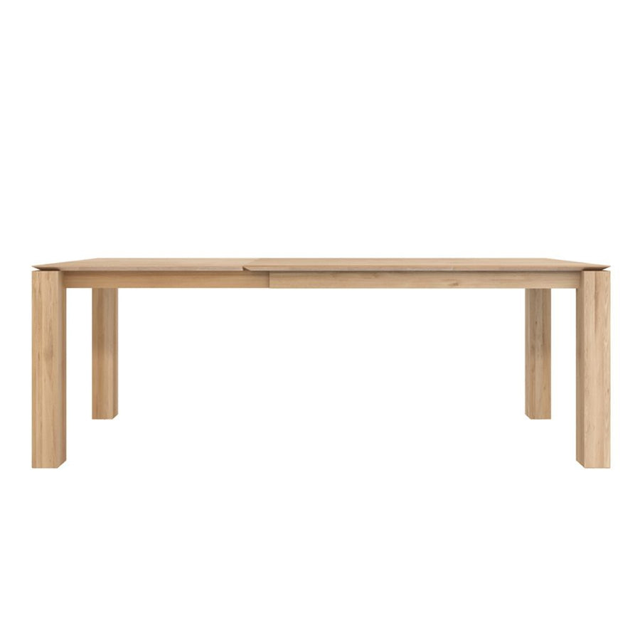 Ethnicraft Oak Slice Extendable Dining Table - Legs 8 x 8cm