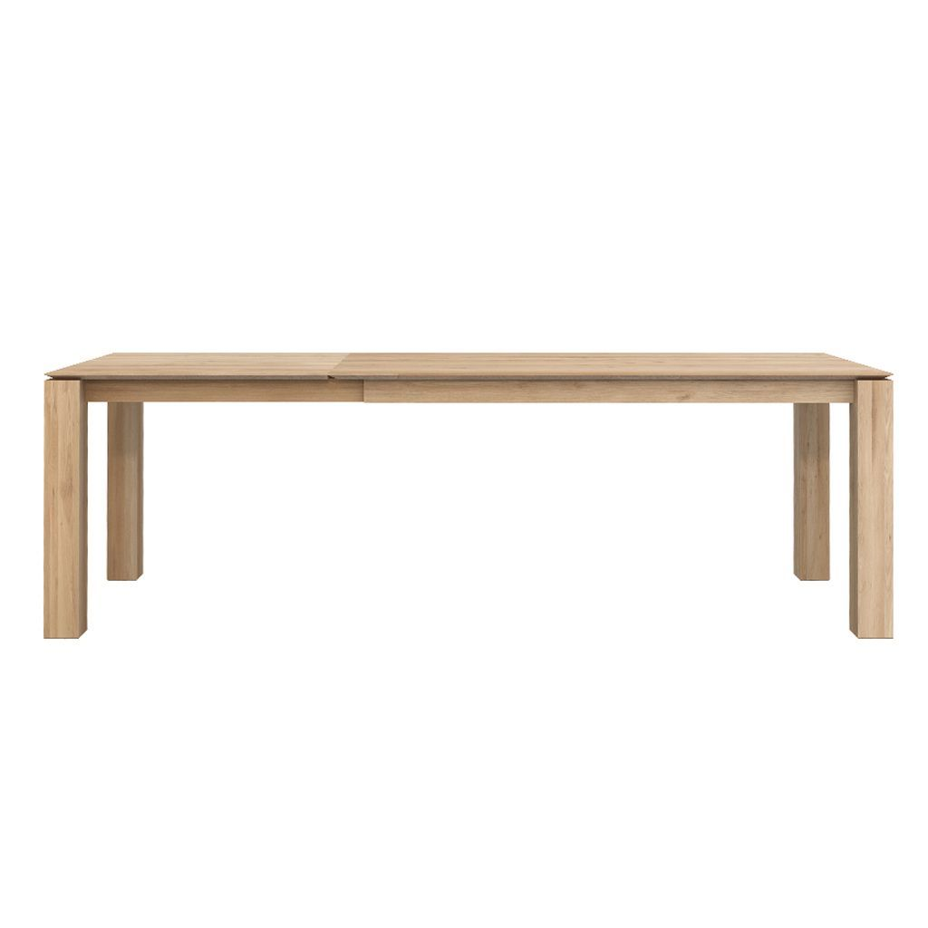 buy Ethnicraft Oak Slice Extendable Dining Table - Legs 10 x 10cm online