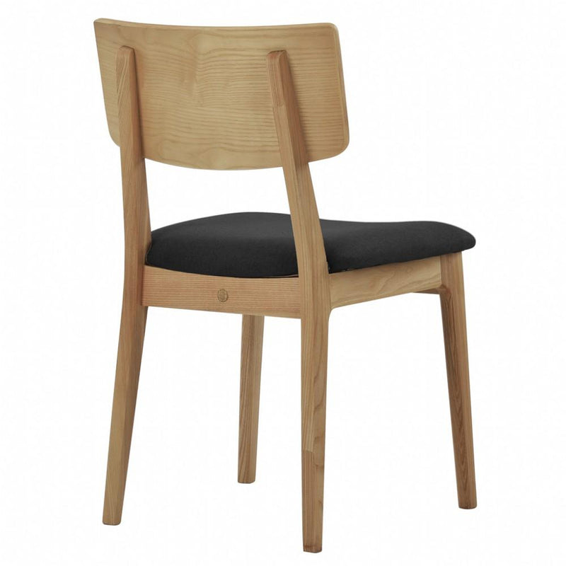 NOFU 597 Dining Chair - Black/Natural Ash
