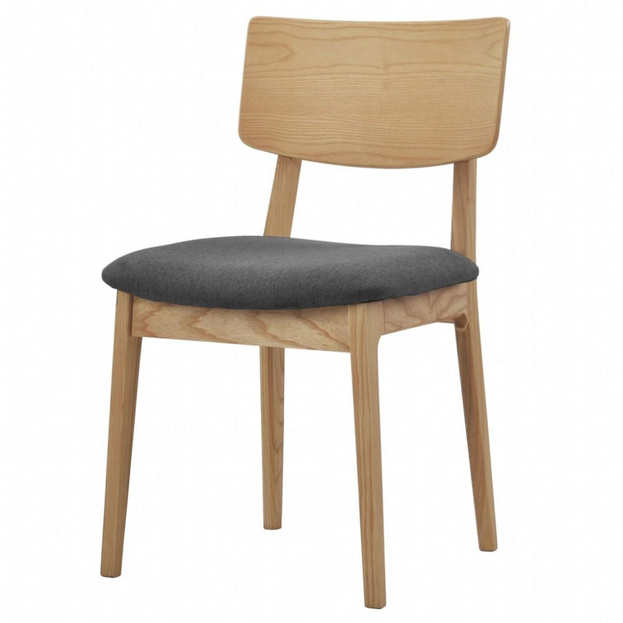 NOFU 597 Dining Chair - Charcoal/Natural Ash