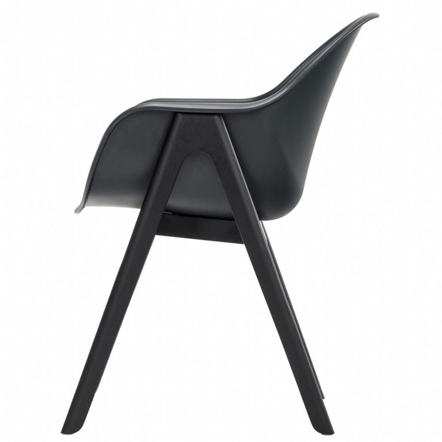 NOFU 727 Dining Chair - Black Shell/Black Ash