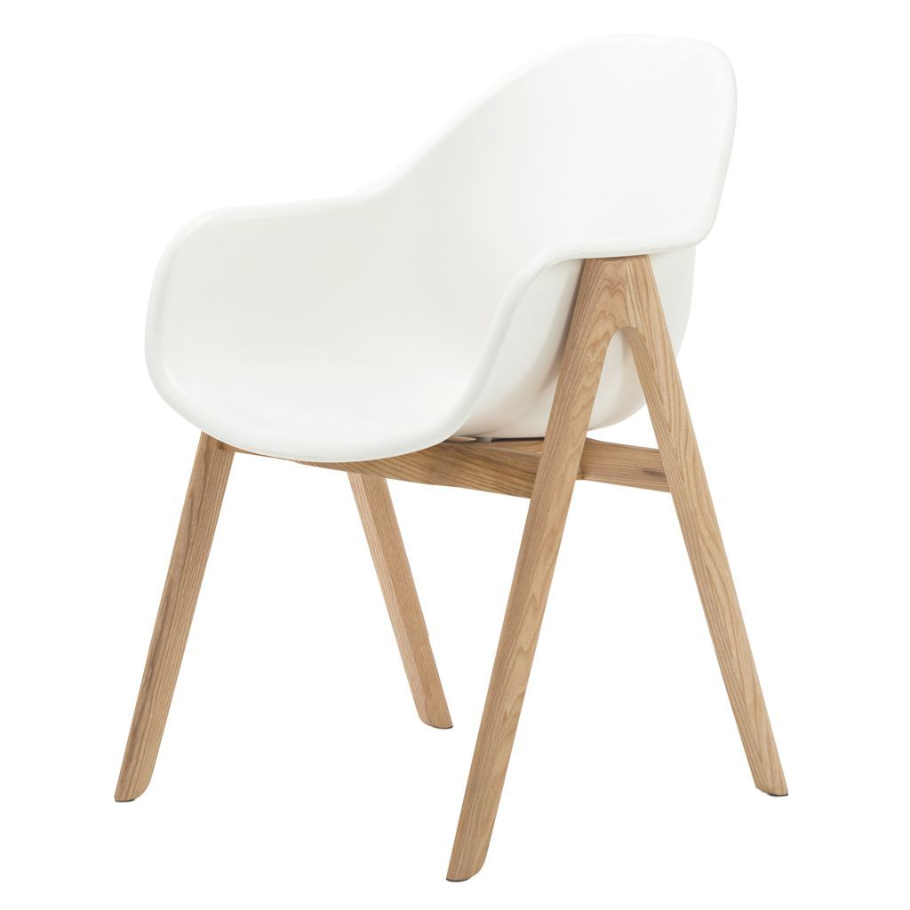 NOFU 727 Dining Chair - White Shell/Natural Ash