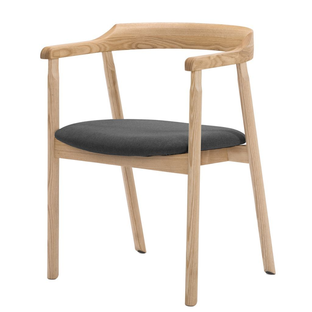 NOFU 737 Dining Chair - Slate Grey/Natural Ash
