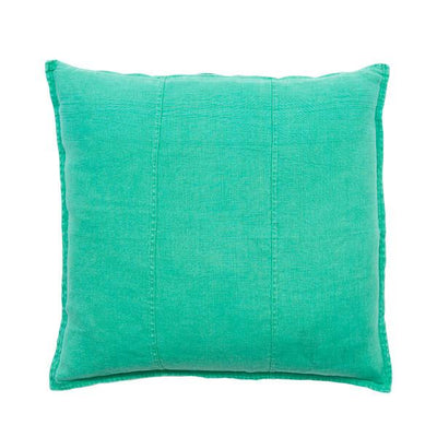 100% Pre-washed Green Linen Cushion
