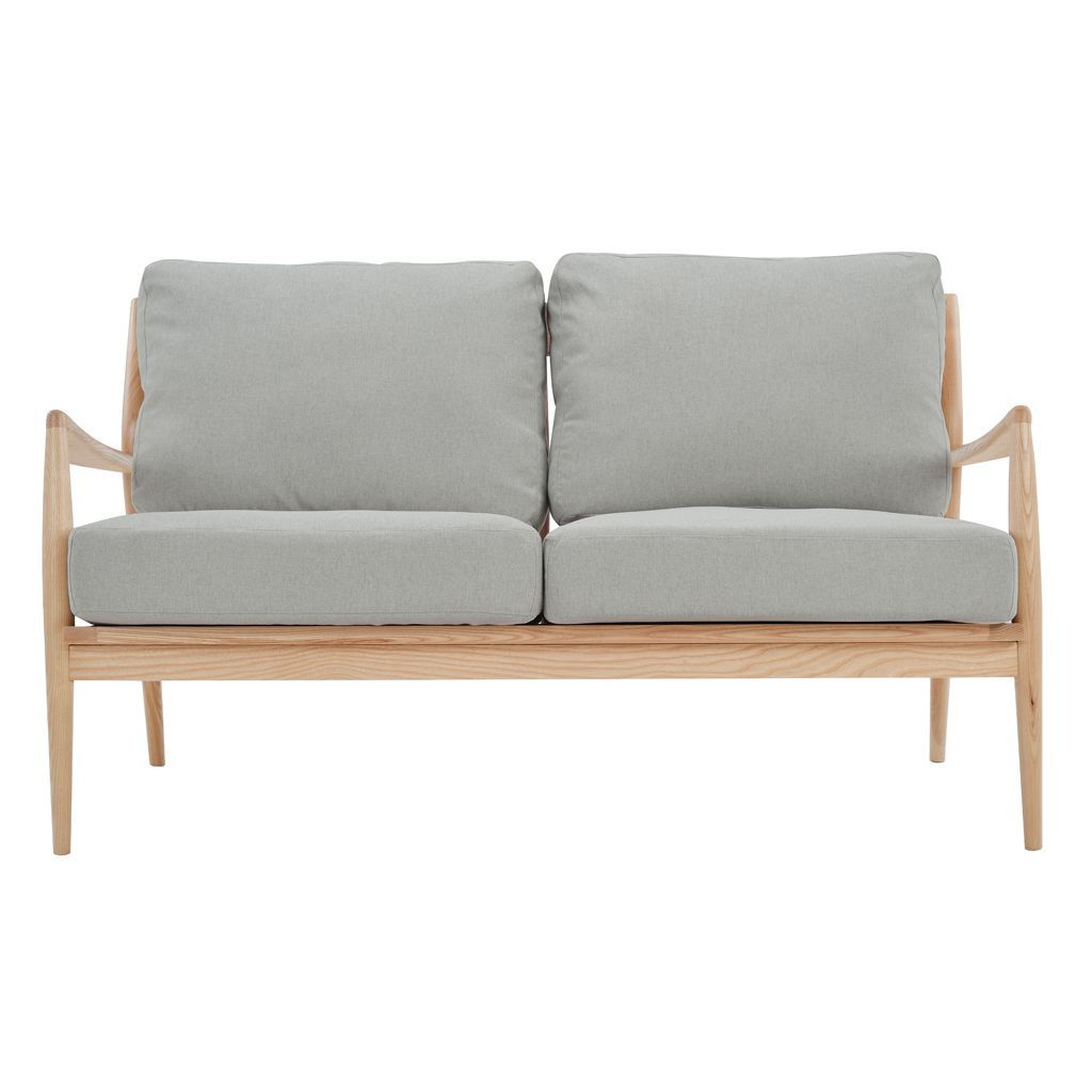 NOFU 805 2 Seater Sofa - Dust Grey/Natural Ash