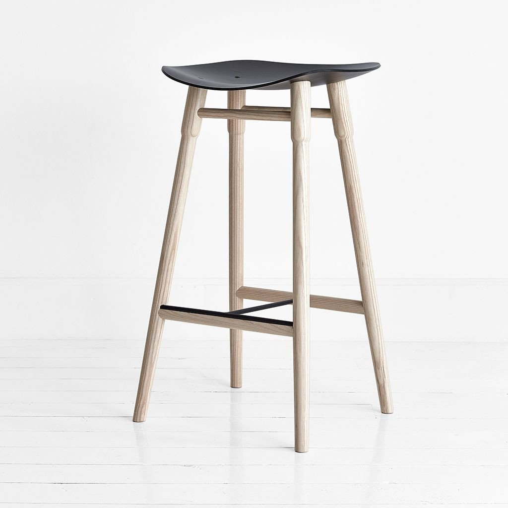 buy MR.FRAG Dowel Counter Stool - Ash/Black Seat online