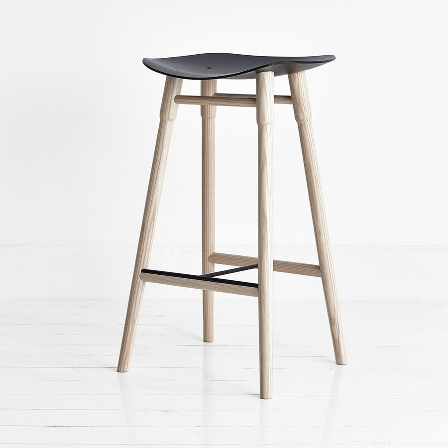 MR.FRAG Dowel Counter Stool - Ash/Black Seat