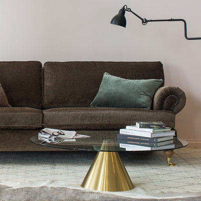 Albert 3 Seater Sofa in Mole