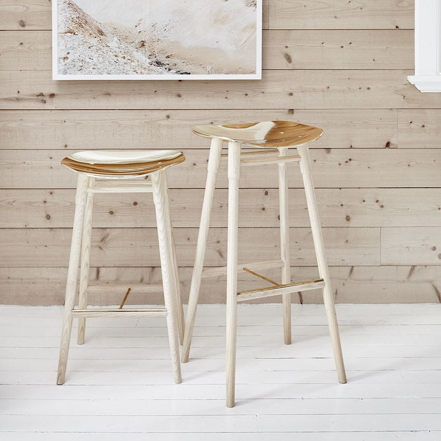 MR.FRAG Dowel Counter Stool - Ash/Brass Seat