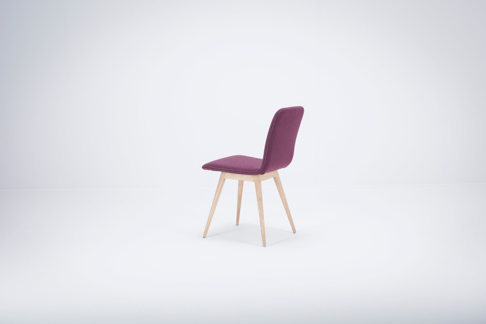 Ena Oak Dining Chair - Aubergine Felt