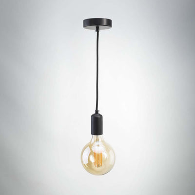 buy Vintage LED E27 Metal Pendant - Black Matte online
