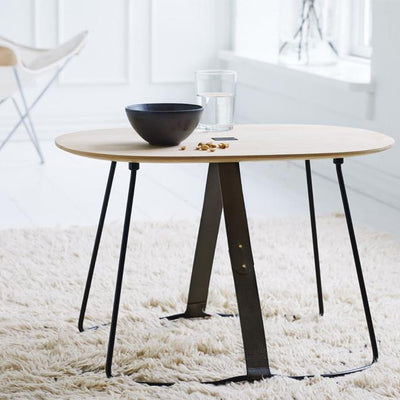 Madera Table with Black Leather Belt