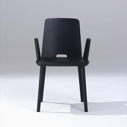 sipa tablet armchair in solid black
