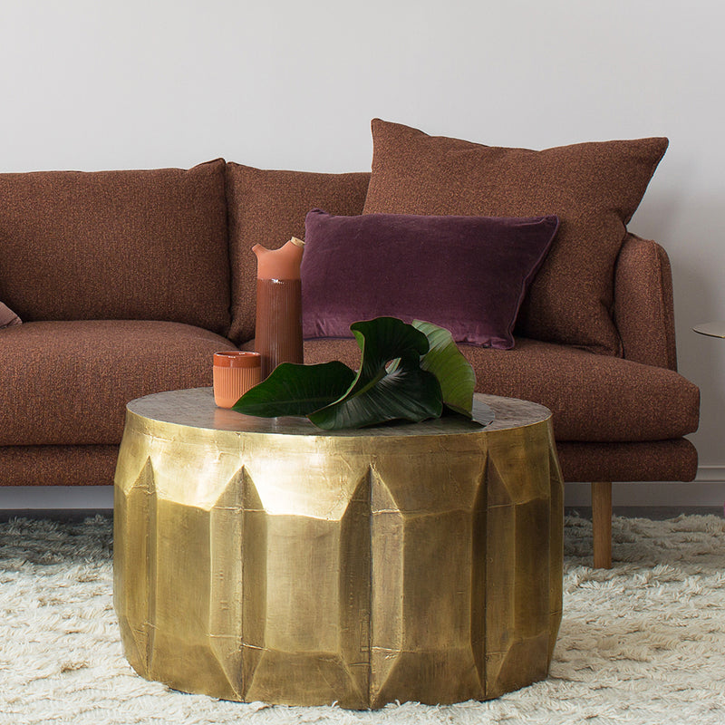 Carved Brass-look Coffee Table