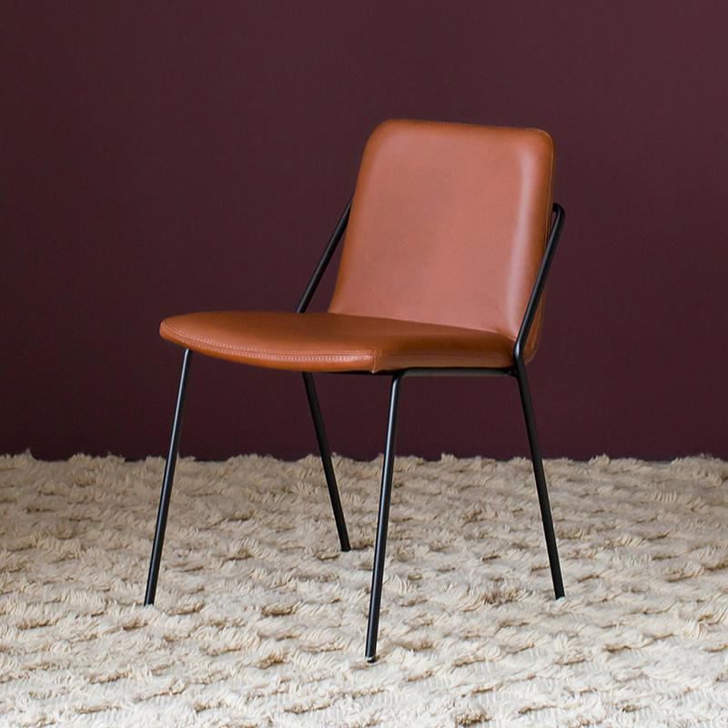 Max Dining Chair in Tan Leather