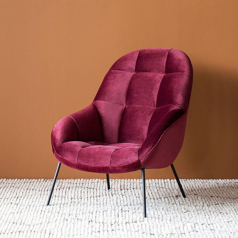 buy Mango Chair in Claret Velvet online
