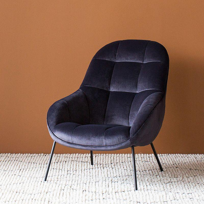 Mango Chair in Slate Velvet