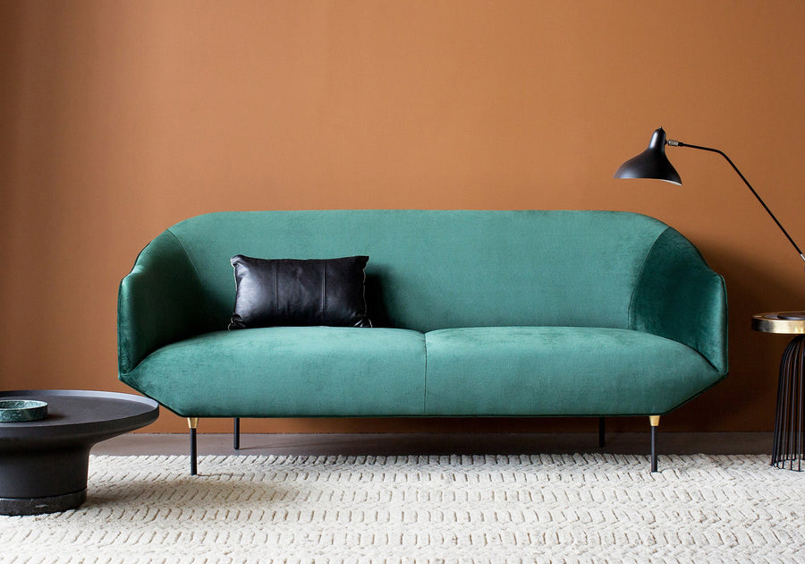 Bale Sofa in Forest Green Velvet